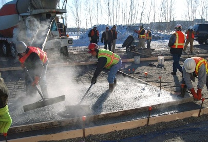 concrete placing in cold weather