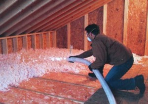 Blown-in insulation material