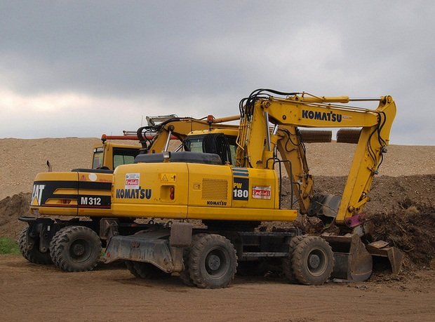 Komatsu equipment for construction company
