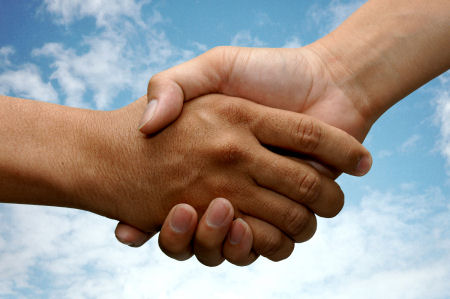 Shake Hand with Partners